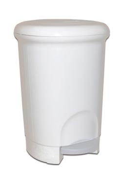 Корзина пластикова з педаллю 14л. M-814W - Фото №1