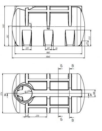 Горзонтальна ємність. Тип G. G-250 - Фото №2