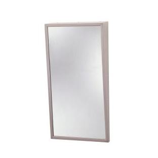 Зеркало с наклоном и  стальной полированной окантовкой. 293-1630 - Фото №1