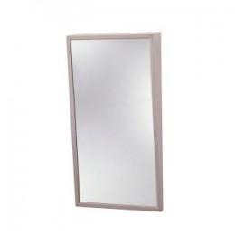 Зеркало с наклоном и  стальной полированной окантовкой. 293-1630 - Фото
