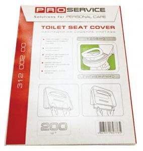 Накладки на сидiння унiтазу  PRO 1/4 200 шт.  31200211 - Фото №1
