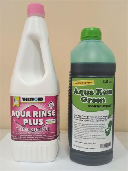 Комплект засобів для біотуалету  Campa Green + Campa Rinse Plus, 1.5 л - Фото №2
