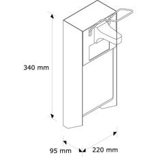 D10. Дозатор для дезраствора 1000 мл., металл., локтевой. - Фото №2