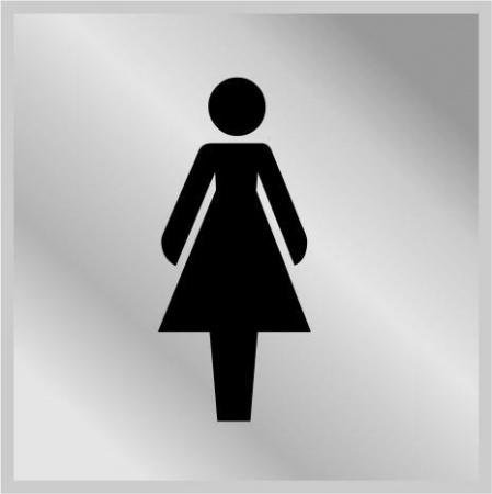 Табличка 'Женский туалет'. 3003 - Фото №1