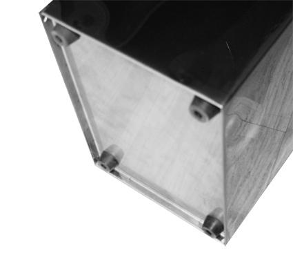 Корзина для паперових рушників метал глянсовий 60 л. M 160C - Фото №2