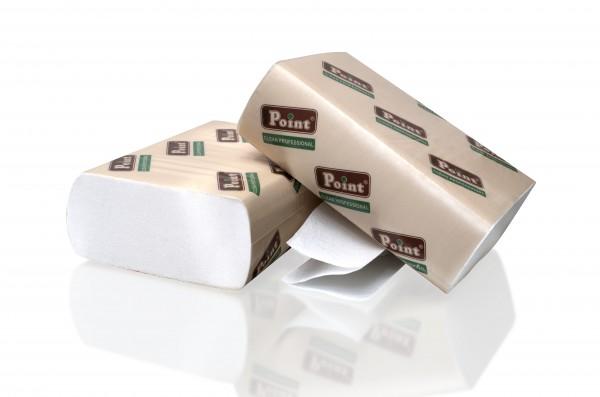 Паперові рушники листові, білі, Z-складання, 2 шари, EcoPoint, Standart. ZS-200. - Фото №1