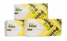 Паперові рушники листові, білі, V-складання, 2 шари, EcoPoint, Standart. VS-160. - Фото