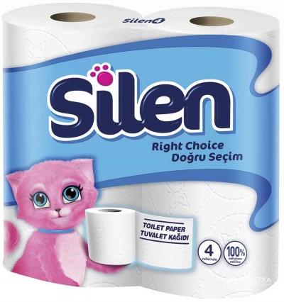 Туалетная бумага, целлюлоза. 2 слоя. Silen., 32 штуки. - Фото №1