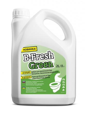 Засіб для біотуалетів B-Fresh Green, 2л. - Фото №1
