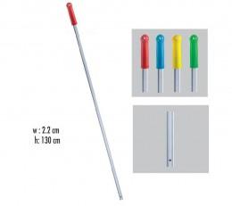 Рукоятка алюмінієва з отвором  130 см * 22 мм. ALS285.