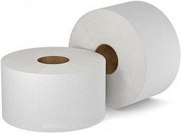Туалетний папір рулонний, макулатура, сіра. 110 метрів. Джамбо.  M110 - Фото