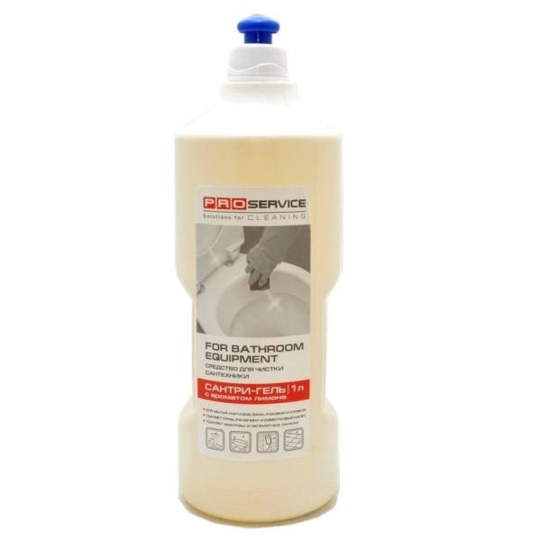 Засіб для миття та дезинфекції сантехніки 'Сантрі-гель', Лимон з сірчаною кистою, 1л. 25472810 - Фото №1