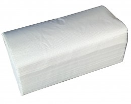 Бумажные полотенца листовые,  V-укладка, целлюлозные  Люкс. M150. - Фото