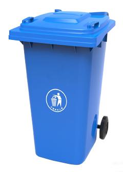 Бак для сміття пластиковий, синій, 120л. 120A-9BL - Фото №1