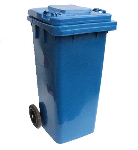 Бак для сміття пластиковий, синій, 120л. 120A-9BL - Фото №2