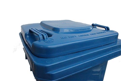 Бак для сміття пластиковий, синій, 120л. 120A-9BL - Фото №3