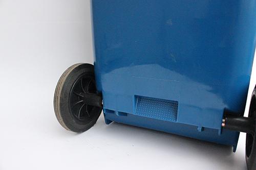 Бак для сміття пластиковий, синій, 120л. 120A-9BL - Фото №4