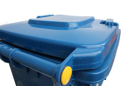 Бак для сміття пластиковий, синій, 120л. 120A-9BL - Фото №5