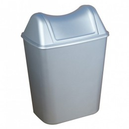 Корзина мусорная+крышка. 579+580SAT. - Фото