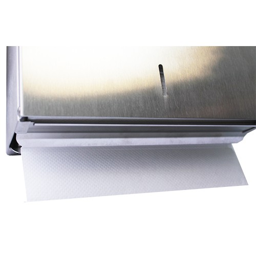Тримач рушників паперових в пачці V-складка S-LINE глянсовий, нерж. сталь.  D-401C - Фото №2