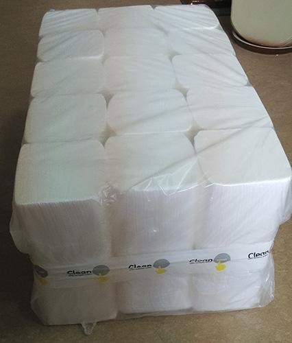 Паперові рушники листові, білі, V-складання, 2 шари, EcoPoint, Lux. VL-160. - Фото №3