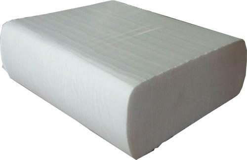 Бумажные полотенца листовые, белые, Z-укладка, 2 слоя,  CleanPoint, Lux. ZL-200. - Фото №1