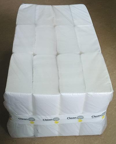 Паперові рушники листові, білі, Z-складання, 2 шари, CleanPoint, Standart. ZL-200. - Фото №3
