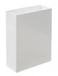 Корзина для паперових рушників метал білий 16 л. M 116W