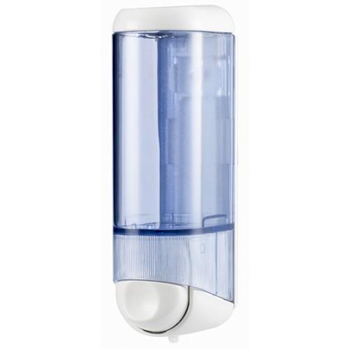 Дозатор рідкого мила 0.25 л, білий/прозорий, пластик. A60501 - Фото №1