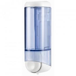 Дозатор жидкого мыла 0.25 л, белый / прозрачный, пластик. A60501 - Фото