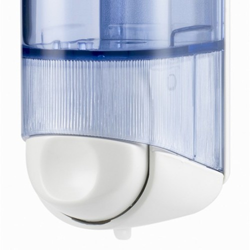Дозатор рідкого мила 0.25 л, білий/прозорий, пластик. A60501 - Фото №2