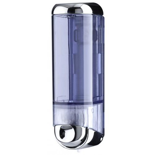 Дозатор рідкого мила 0.25 л, хромований/прозорий, пластик. A60500 - Фото №1