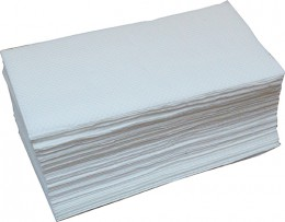 Бумажные полотенца листовые,  V-укладка, целлюлозные. V-150.