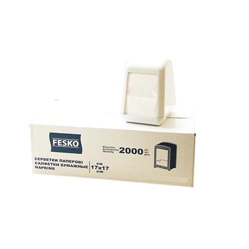 Серветки  для  їдальні 2000 шт. L-складка. 9441 - Фото №2