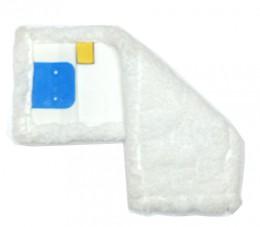 Моп (вкладыш) с  карманами, отворотами из  микрофибры, 40 см. MB057-WP. - Фото