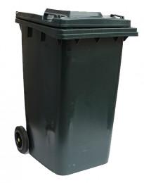 Бак для мусора  пластиковый 240л., темно-серый. 240H2-19DG - Фото