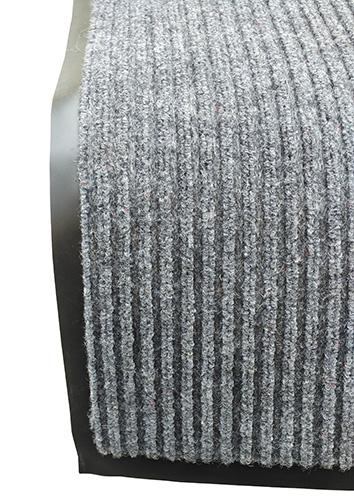 Грязезащитный коврик Дабл Стрипт, 60*90 серый. 1022511 - Фото №1