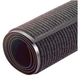 Грязезащитный коврик Дабл Стрип, в Рулоне ширина 90 см, серый. 1022526 - Фото