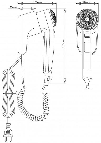 Сушарка для волосся (фен) для волосся індивідуального користування. SC0010 - Фото №2