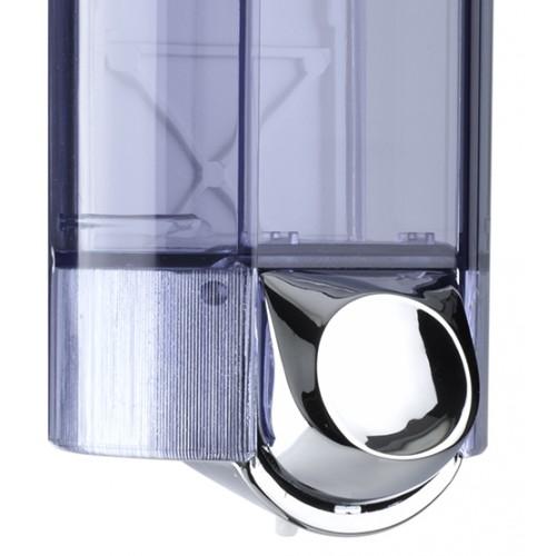 Дозатор рідкого мила 0.8 л, хромований/прозорий, пластик A56200 - Фото №3