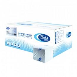 Туалетний папір листовий, целюлоза, біла, V - складка, 226 листів.  B-308. - Фото