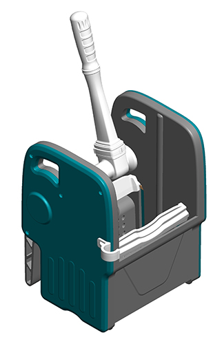 Пластиковий віджим для візка, HERCULES. HPP79 - Фото №1