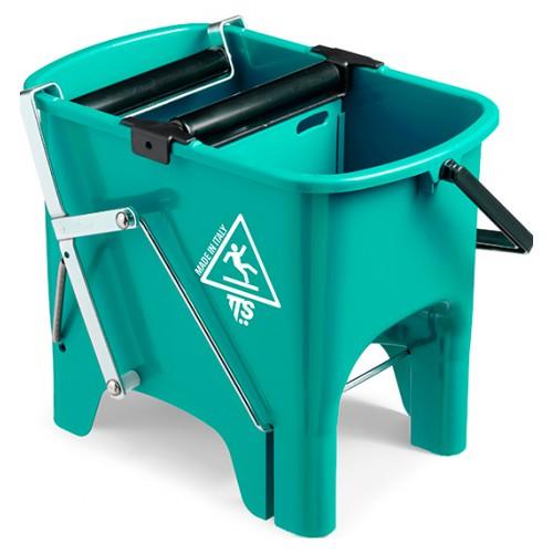 Відро для прибирання з віджимом SQUIZZY зелене, 15л.  0V006410 - Фото №1
