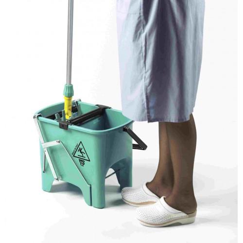 Відро для прибирання з віджимом SQUIZZY зелене, 15л.  0V006410 - Фото №2