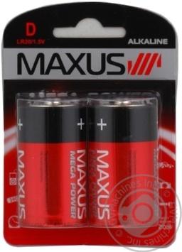Батарейка MAXUS  D/R20 2 шт - Фото №1