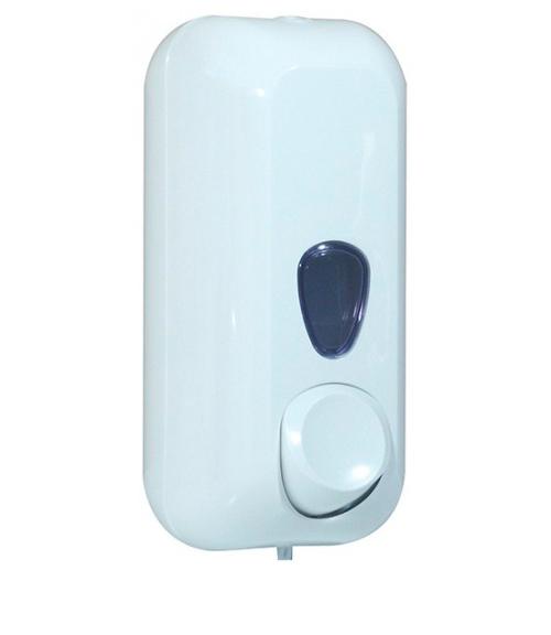 Дозатор рідкого мила 0.55л, білий, пластик.  A71411 - Фото №1