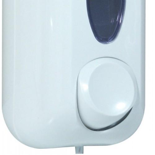Дозатор рідкого мила 0.55л, білий, пластик.  A71411 - Фото №2