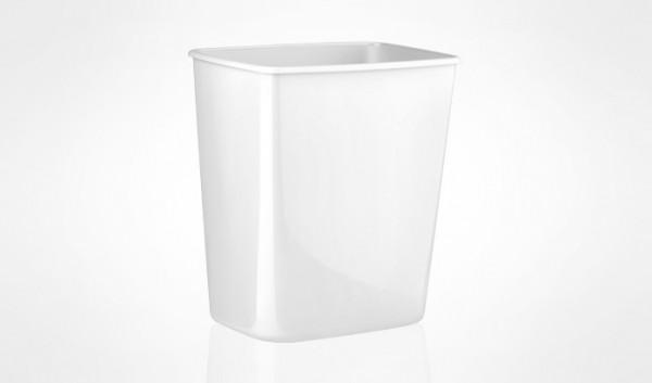 Урна для сміття ACQUALBA пластик білий 8 л. A57901 - Фото №3