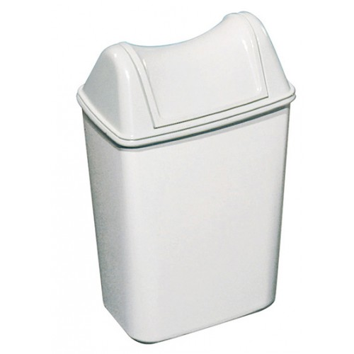 Урна для сміття ACQUALBA пластик білий 8 л. A57901 - Фото №4