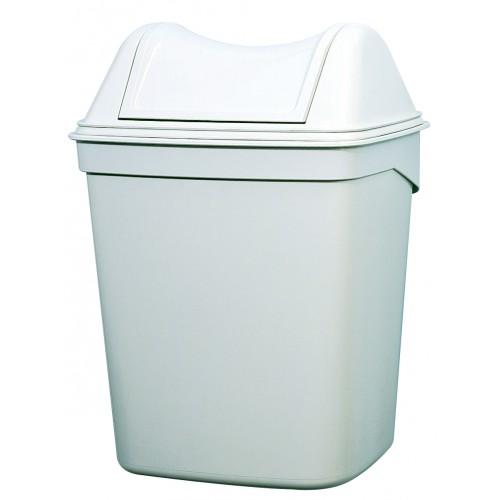 Урна для сміття ACQUALBA пластик білий 8 л. A57901 - Фото №5